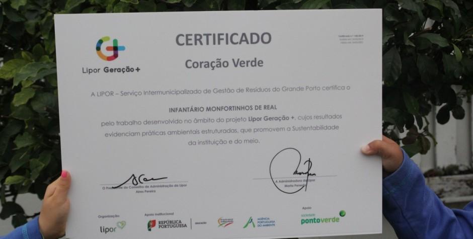 Entrega Certificado Coração Verde